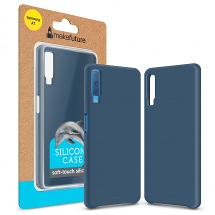 Кейс MakeFuture Silicone Samsung A7 2018 (A750) Blue