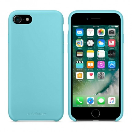 Кейс MakeFuture Silicone Apple iPhone 8 Light Blue