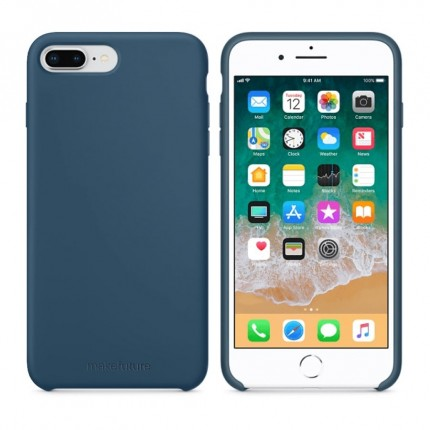 Кейс MakeFuture Silicone Apple iPhone 8 Plus Blue