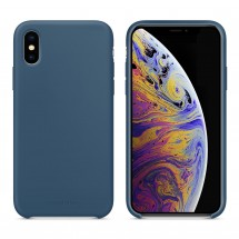 Кейс MakeFuture Apple iPhone XS Silicone Blue