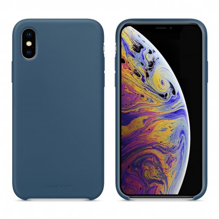 Кейс MakeFuture Silicone Apple iPhone XS Blue