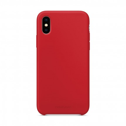 Кейс MakeFuture Silicone Apple iPhone XS Red