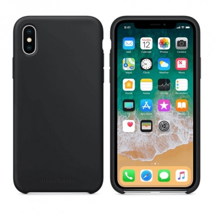 Кейс MakeFuture Silicone Apple iPhone X Black
