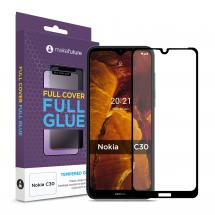 Захисне скло MakeFuture Nokia C30 Full Cover Full Glue