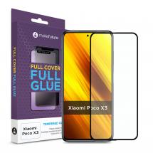 Захисне скло MakeFuture Xiaomi Poco X3 Full Cover Full Glue Black