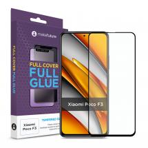 Захисне скло MakeFuture Xiaomi Poco F3 Full Cover Full Glue Black