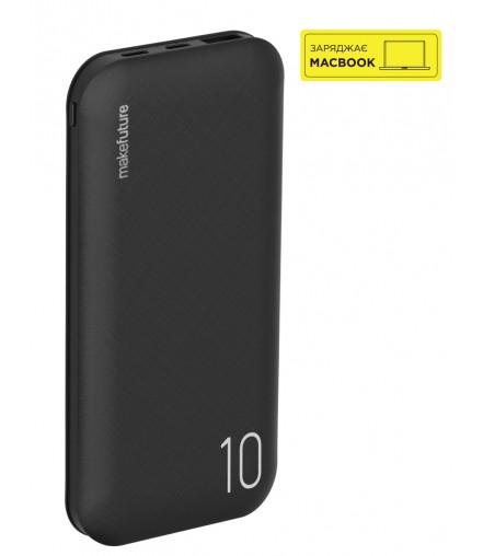 MakeFuture Універсальная мобільна батарея Power Bank MyPower 10000 mAh 18W PD+QC Black